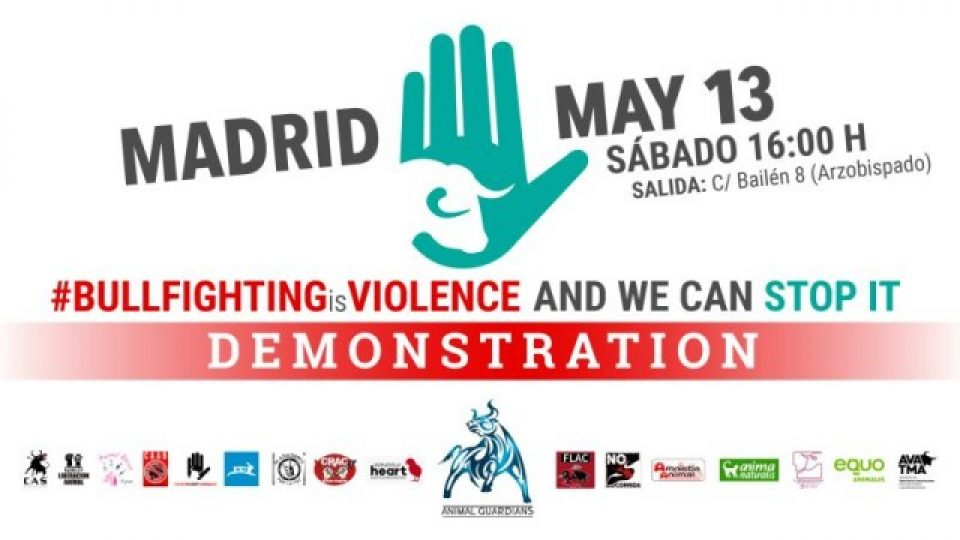 Madrid March Against Bullfighting 2017