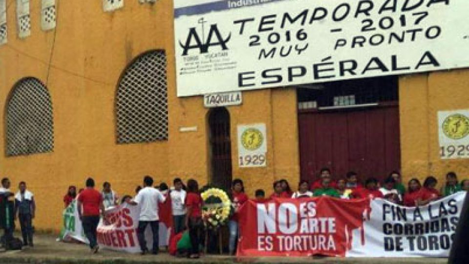 Yucatan Bullfight Protest